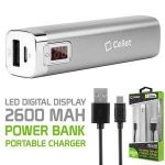 Picture of Cellet 2600mAh Power Bank w/ Digital Display (Silver)