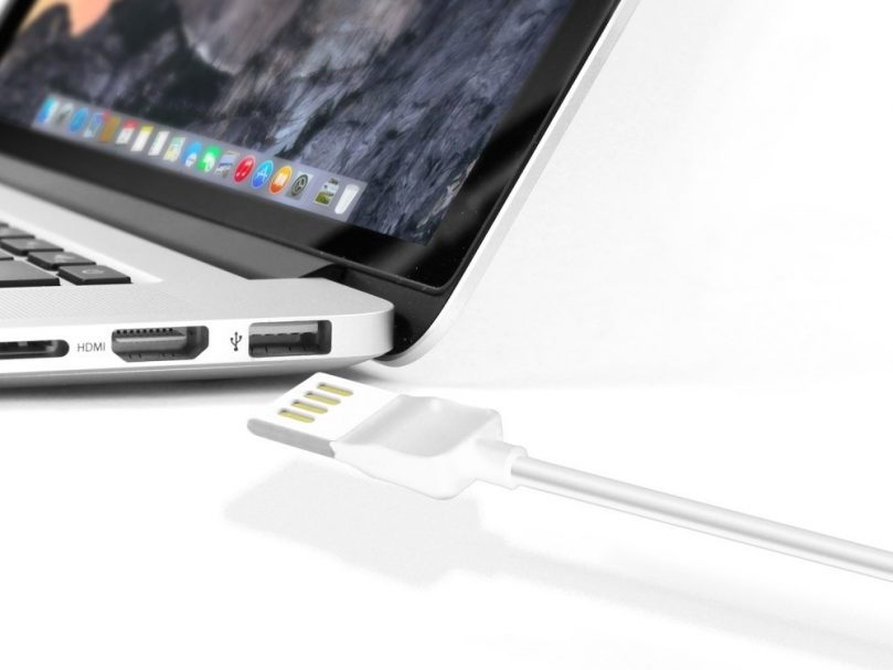 Picture of Cellet 4 Ft Micro USB Charging + Data Cable  Reversible (White)