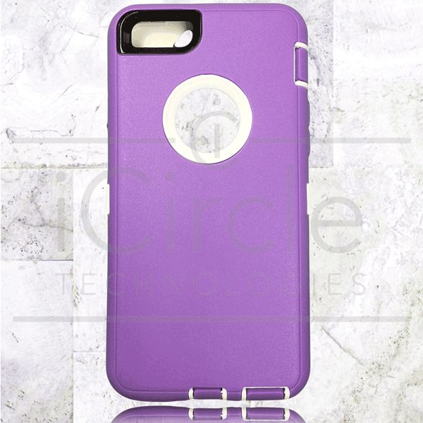 Picture of Defender Hybrid Case w/Clip (Purple/White) - iPhone 6 / 6S