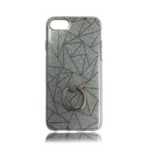 iPhone 7 TPU Design Case Triangles With Ring