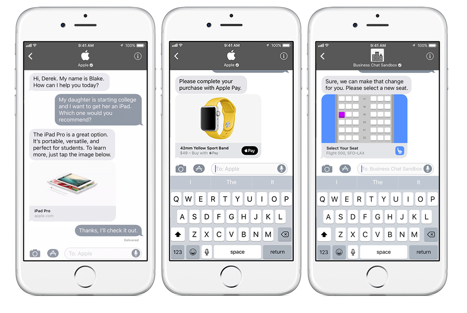 Apple Officially Unveils Business Chat, or Chatbots for iMessage 11