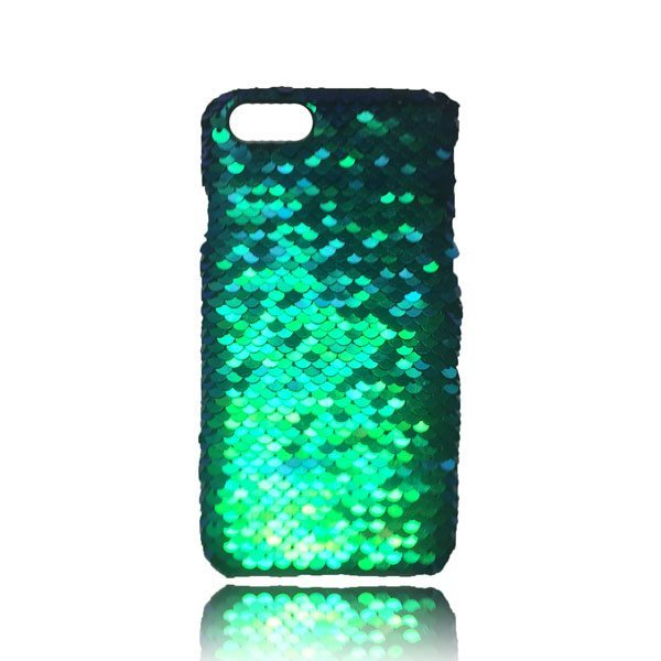 san francisco b63ab e044a Sequin Flip Case – Teal – iPhone 8 / iPhone 7 / iPhone 6S / iPhone 6