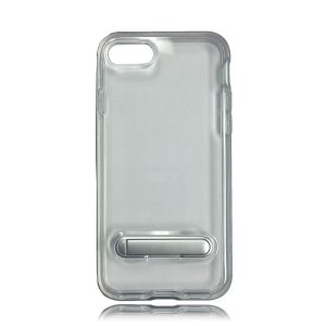 iPhone 8 Transparent Bumper Style Case With Kickstand