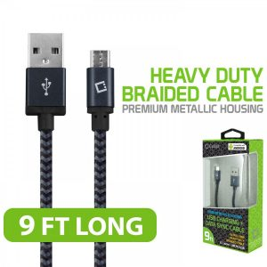 Picture of Cellet 9 Ft Micro USB Charging + Data Cable (Black)