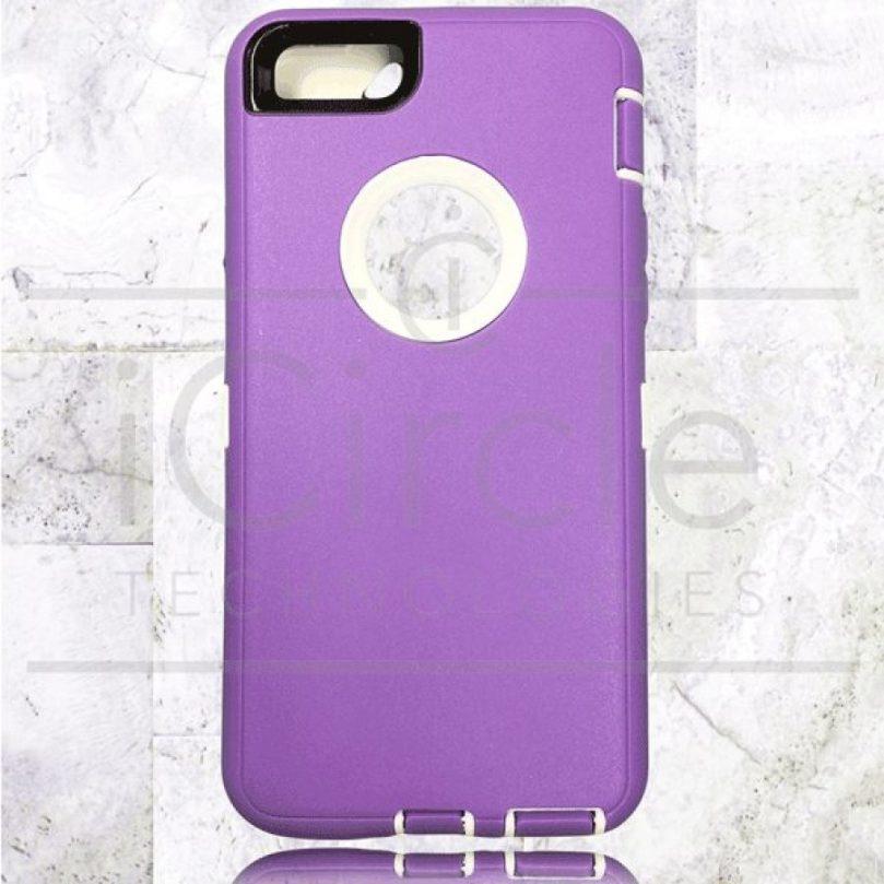 Picture of Defender Hybrid Case w/Clip (Purple/White) - iPhone 7