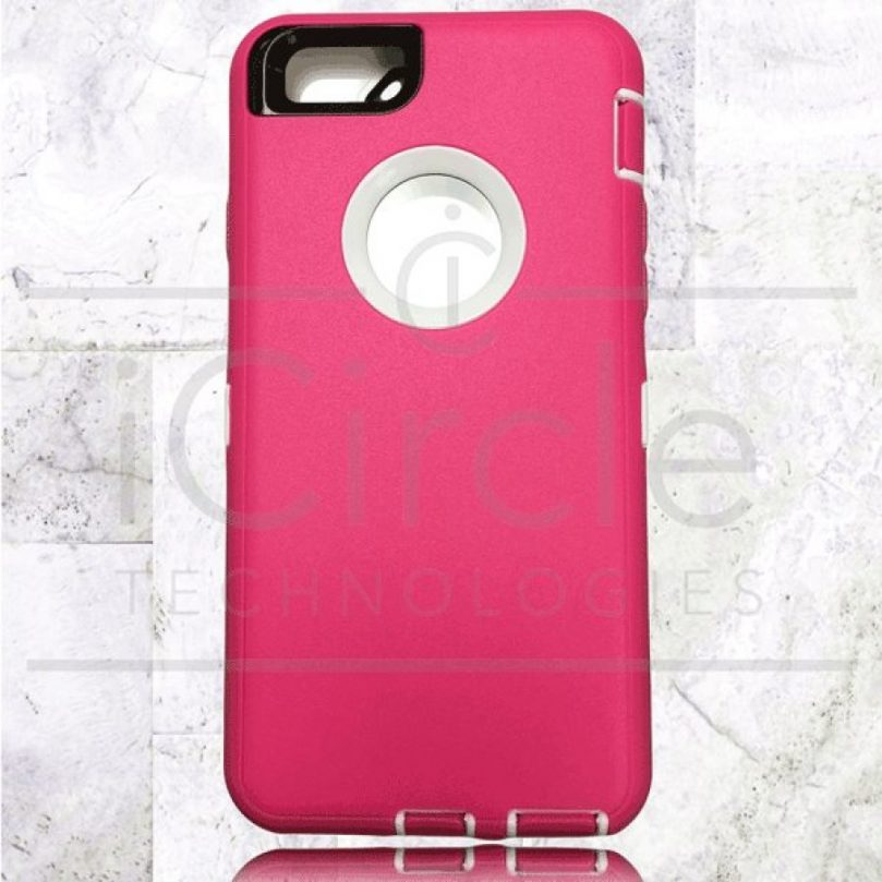 Picture of Defender Hybrid Case w/Clip (Pink/White) - iPhone 7 Plus