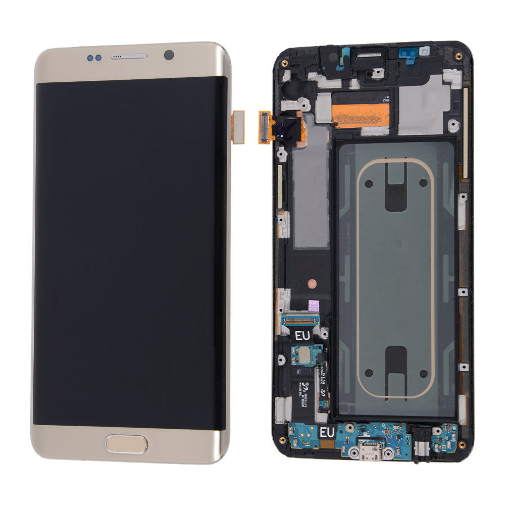 Samsung Galaxy S6 Edge Plus G928V LCD Display Touch Screen Digitizer Frame  Gold