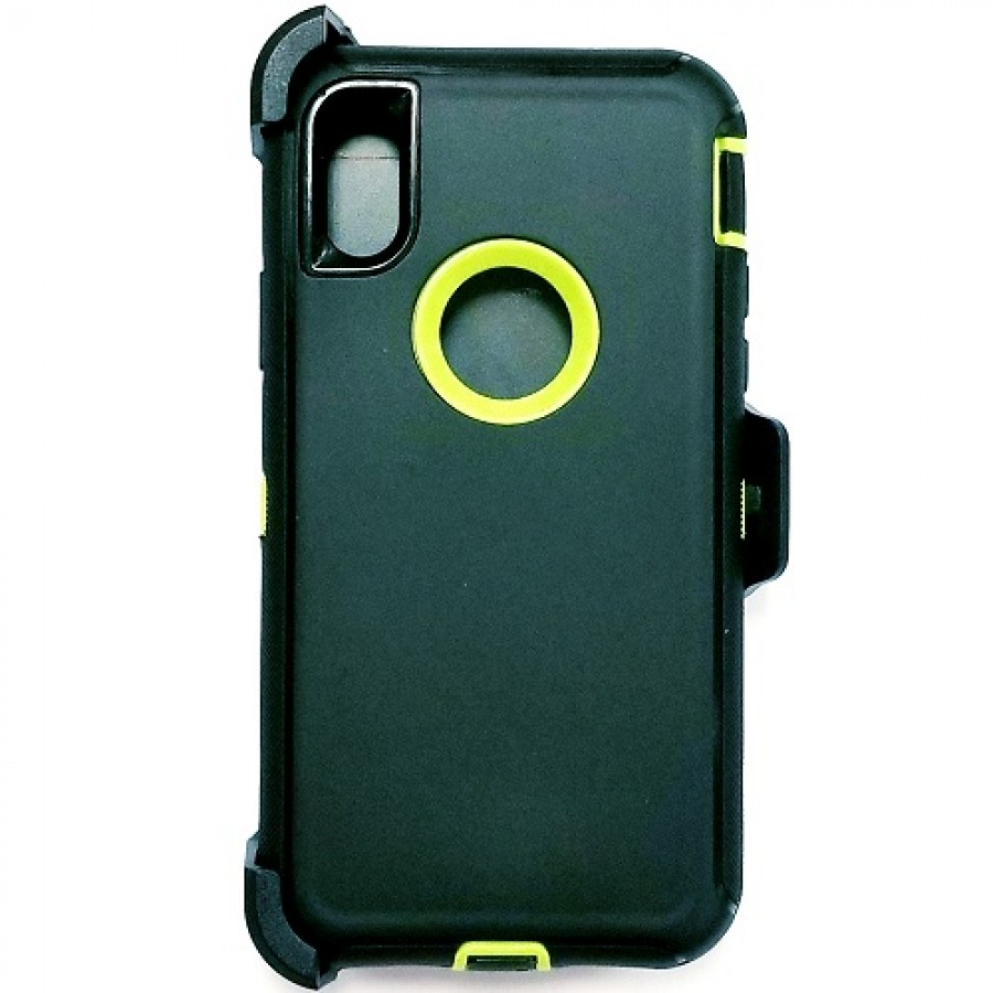 iphone xs case black and green
