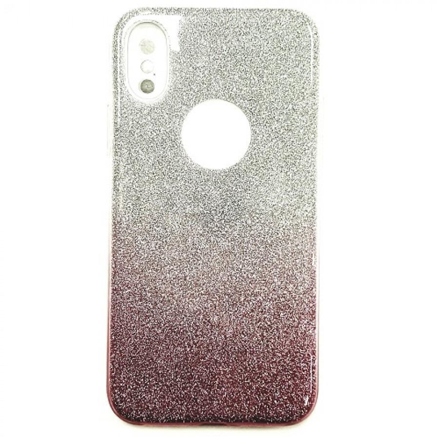 best service edf61 12ac6 iPhone X/Xs Daisy Hard TPU Glitter PU Case SILVER/PINK