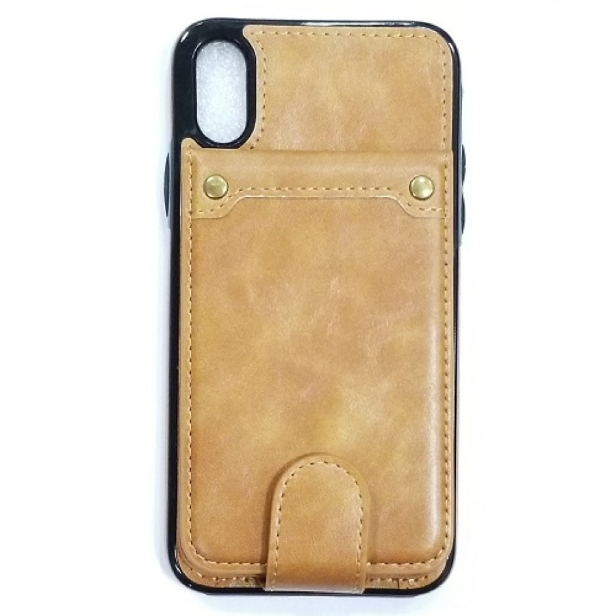 iphone xs pu leather case