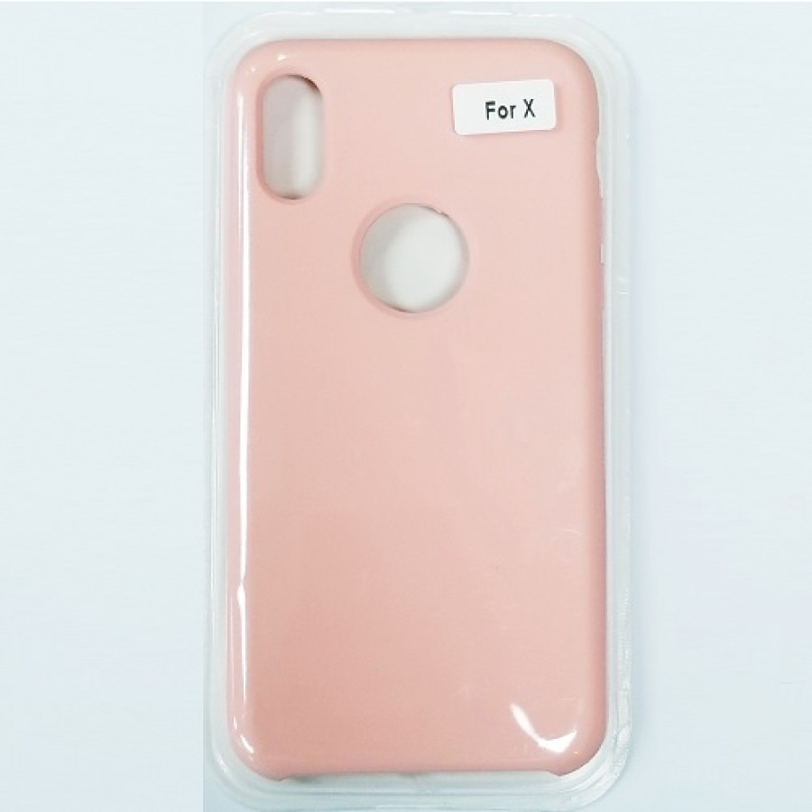 the latest 0a231 ae8ce iPhone X/Xs Liquid Silicone Gel Rubber Shockproof Case LIGHT PINK