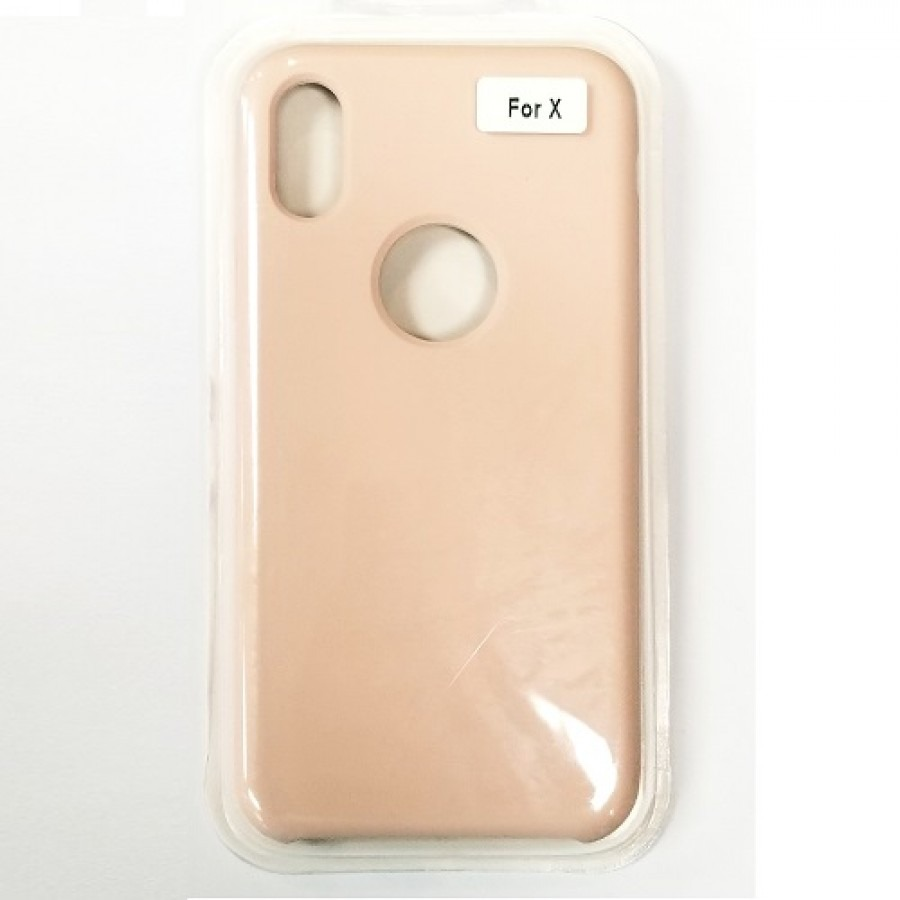 iphone xs silicon case pink