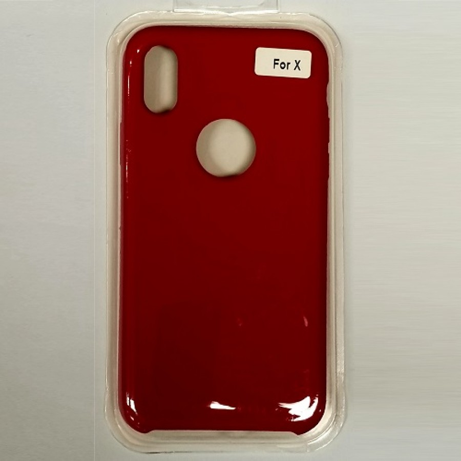 innovative design c4d94 d36bb iPhone X/Xs Liquid Silicone Gel Rubber Shockproof Case ROSE RED