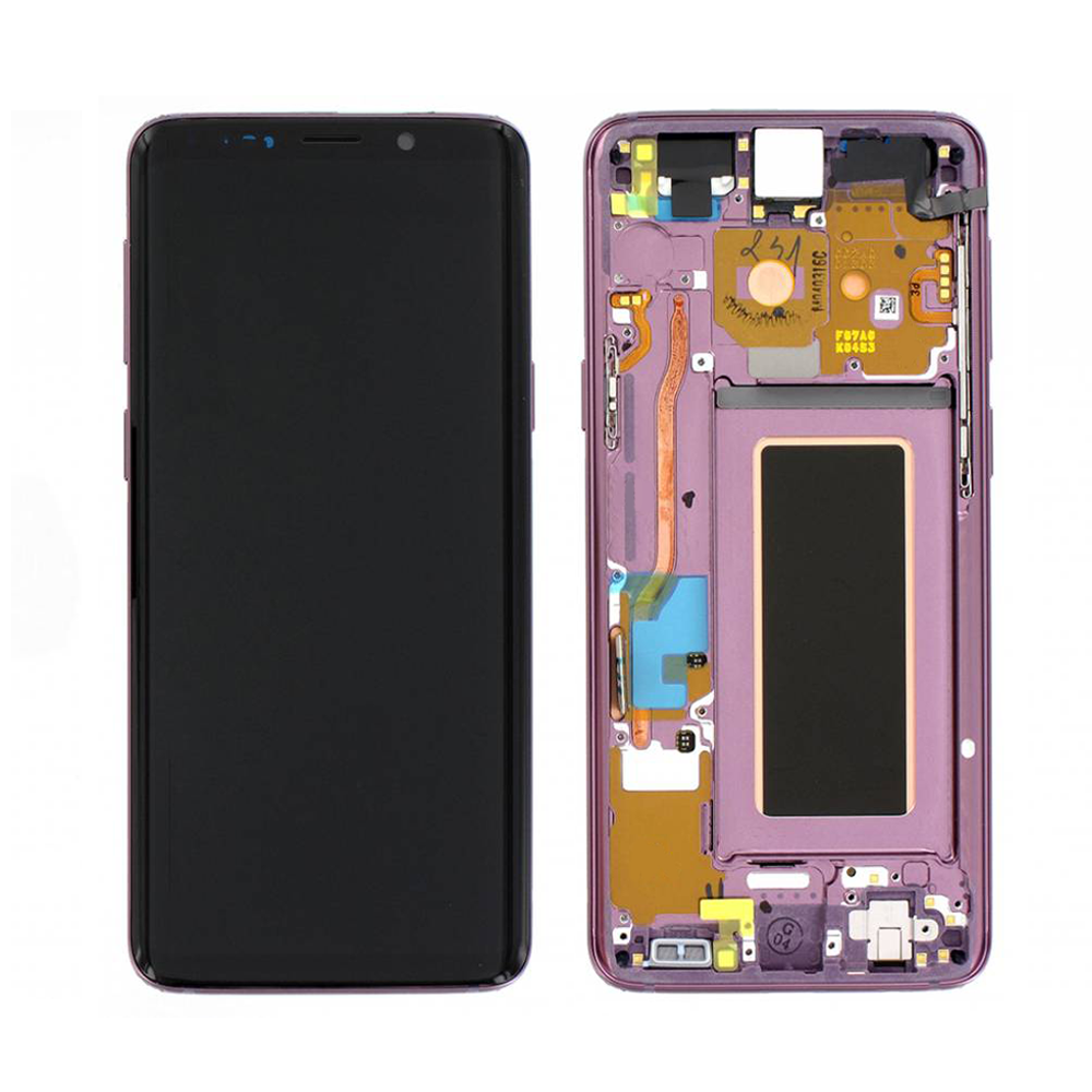 AMOLED Display Touch Screen Digitizer Frame Purple For Samsung Galaxy S9  Plus